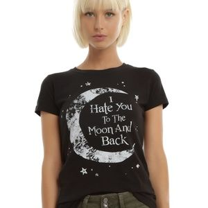 I Hate You To The Moon And Back Cotton Tee